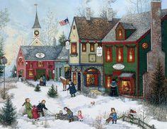 Cobblestone Holidays Christmas Cards , 1004658 | Lang