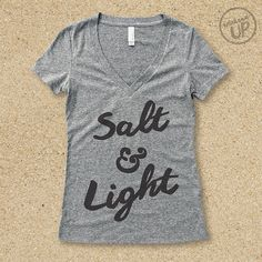 e7dcfb101ef82b Salt   Light Vintage Tee in Heather Grey   Charcoal.....Christian Graphic  tee