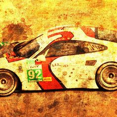 2014 Porsche 911 Rsr, Classic Car, Race Car by Drawspots Illustrations Enfield Bullet, Porsche 911 Rsr, Gull, Race Cars, Classic Cars, Digital Art, Racing, Motorcycle, Illustrations