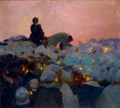 paintingbox: Gaston La Touche (1854-1913), Pardon in Brittany, 1896, French. Oil on canvas. 100.5 × 110.5