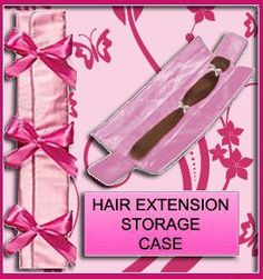 cant decide if I want to take the time to make this or just buy it. pink satin-extension storing case.... with cute little bows
