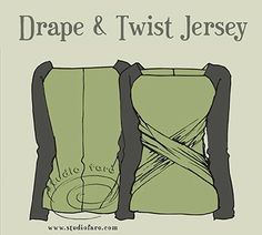 Pattern Puzzle - Drape Twist Jersey
