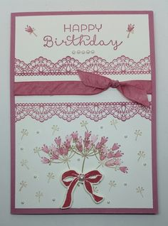 Stampin' Up! Demonstrator stampwithpeg : Sale-a-bration Wednesday : The Delicate Details of Falling for You – Birthday Card. There are only five wednesday's left of Sale-a-bration, the …