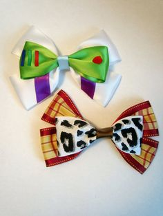 buzz lightyear & woody bows! via etsy.com/listing/105051545/youve-got-a-friend-in-me-value-pack