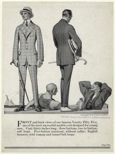 Hart, Schaffner & Marx ad, 1915.
