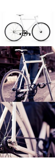 the Viktor bike by Schindelhauer :: fixed-gear bike with Carbon Drive belt system (light and simple construction, low maintenance... Not for San Francisco but mostly just fine as a city bike : )