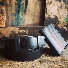 Old and new genuine belt with cardholder. Image taken at vintage outdoor studio Tumi, Old And New, Carbon Fiber, Cuff Bracelets, Card Holder, Belt, Instagram Posts, Leather, Outdoor