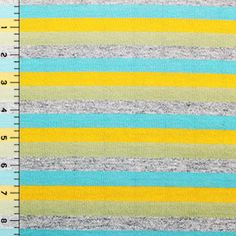 Cody Stripe Cotton Jersey Blend Knit Fabric