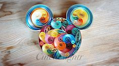 Paper quilling mini mouse Cutedesigntr