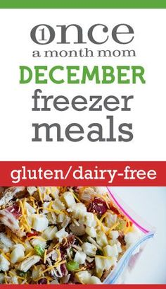 Once a month mom blog - she has freezer meal ideas for each month for every type of diet! Whole food, Paleo, Gluten/Dairy Free, etc!