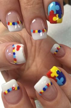 Autism awareness nails autism pinterest autism and fun nails autism awareness prinsesfo Images