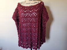 Crochet the Rose Bud Poncho with this free pattern. Intermediate level project with a photo stitch tutorial. Sizes S - included. Crochet Poncho With Sleeves, Crochet Poncho Patterns, Crochet Shawl, Sweater Patterns, Crochet Jacket, Cardigan Pattern, Crochet Cardigan, Knitted Shawls, Crochet Motif