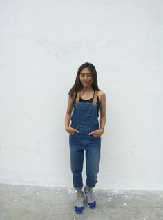 Overall with sneakers #sneakers #overall #tanktop #outfits #fashion #streetstyle