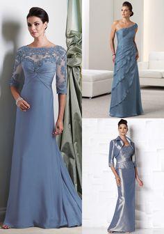 Wedgwood Blue dresses on http://itsabrideslife.com