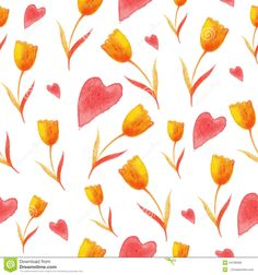 Tulips Pattern - Download From Over 36 Million High Quality Stock Photos, Images, Vectors. Sign up for FREE today. Image: 54799266