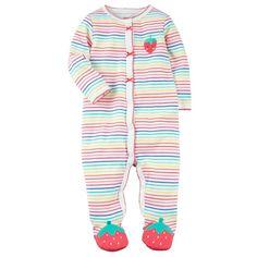 d70917de33b3 Carter s Baby Girls  One Piece Dinosaur Snug Fit Cotton Pajamas 12 ...