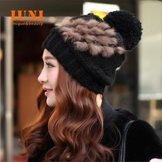 New2014 Winter women warm fashion hand hook knitted Rabbit hair and wool outdoor hat elastic beanie cap woman accessories-