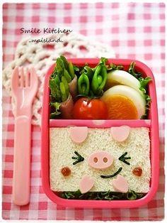 piggy sandwich bento
