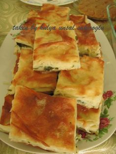 Turkish cuisine has a range of savoury and sweet Pastries. Water pastry is a salty baklava-like pastry. It is most of the time with cheese filling. But it could be made with ground beef fill…