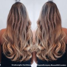 We made her cry! With #hair delight that is! @GreatLengthsUK #hairextensions By #KayandKompany in #MuswellHill #N10 #NorthLondon #London #Longhair #beauty #ombrehair #salon