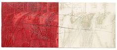 Trayectos VI , 2006. Alugrafie/Fotopolymerradierung/ Radiertechniken/Prägedruck, Druckformat: 44x108 cm