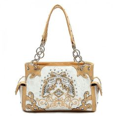 Concealed Carry Rhinestone Double Pistol Handbag