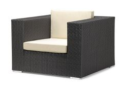 Zuo Beachwood Armchair Espresso by Zuo Outdoor. $591.07. Uv treated. Aluminum frame. Water resistant cushions. The Beachwood collection is a modular outdoor set, capable of setting a sectional, a sofa, a loveseat, a armchair,and  all with a coffee table.  The weave is a UV treated synthetic with a re-inforced interior aluminum tube frame.  The cushions are made of water resistant covers and foam.  The table has a clear tempered glass top.  This curvaceous collection ha...