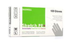 Daxwell F10000223 Stretch Polyethylene Glove, Disposable, Large, White (10 Boxes of 100 Gloves) by Daxwell. $27.12. Daxwell Stretch PE gloves are the gloves of choice for food service and general purpose uses. These gloves deliver superior performance and comfort through hybrid features found traditionally in poly, vinyl, and latex gloves.