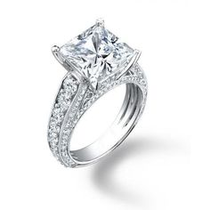 2.75 ct Lady's Princess Cut Center Stone and Round Cut Side Stone Diamond Engagement Ring in Platinum AGK Diamonds, http://www.amazon.com/dp/B009UWHPJ8/ref=cm_sw_r_pi_dp_pr09qb014P26Z