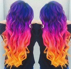 Can never resist sunset hair through arcticfoxhaircolor - . - Can never resist sunset hair by arcticfoxhaircolor - Cute Hair Colors, Pretty Hair Color, Beautiful Hair Color, Hair Color Blue, Hair Dye Colors, Undercut Hairstyles, Pretty Hairstyles, Short Hairstyles, Hairstyle Ideas