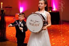 Jackie Santana Photography, Rock N' Roll Wedding. Now there's an idea, good thing one of my cousins plays the drums!
