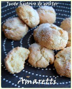 Amaretti à l'Amaretto Biscuit Amaretti, Biscuit Cookies, Amaretto, Biscotti, Macarons, Hamburger, Gluten, Muffins, Bread