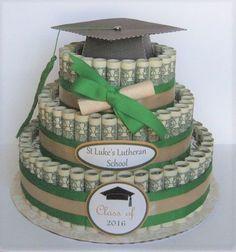 Graduation Gifts : Graduation Money cake creative gifts for grads gifts grads love creative ways Best Graduation Gifts, Graduation Diy, Graduation Decorations, Grad Gifts, Diy Gifts, Unique Gifts, Graduation Quotes, Cap Decorations, Party Gifts