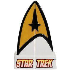 Star Trek Command Insignia salt and pepper shakers.