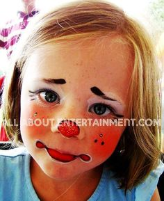 Halloween cute little clown face painting