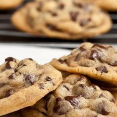 Chewy Chocolate Chip Biscuits