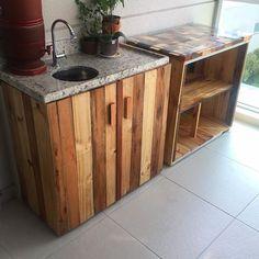armários cozinha de paletes - Pesquisa Google