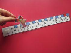 Aquí os muestro las rectas numéricas que he hecho para las mesas de los alumnos.  Este año estamos trabajando con el p... Math School, Pre School, Preschool Math, Math Games, Kids And Parenting, 9 And 10, Teaching, Personalized Items, Ideas Para