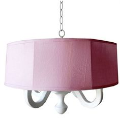 @rosenberryrooms is offering $20 OFF your purchase! Share the news and save!  Pink Linen Drum Chandelier #rosenberryrooms