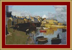 A View Of Mousehole Cross Stitch Pattern