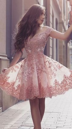 Find and buy the perfect prom dresses & homecoming dresses at LaLaMira. We offer a variety of off the shoulder lace homecoming dresses in dazzling sizes and styles. Pretty Prom Dresses, Lace Homecoming Dresses, Hoco Dresses, Cute Dresses, Beautiful Dresses, Evening Dresses, Formal Dresses, Junior Prom Dresses Short, Graduation Dresses
