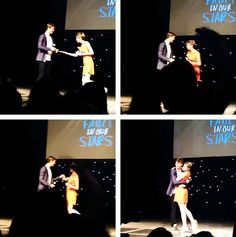 Ansel Elgort and Shailene Woodley being adorable in Dallas (x)