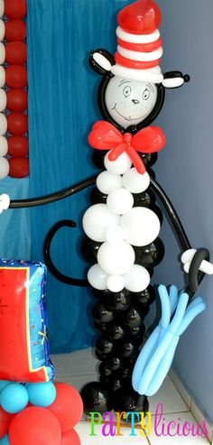 Birthday Party Ideas - Blog - DR. SEUSS PARTY (This Cat n Hat look adorable in the library!)