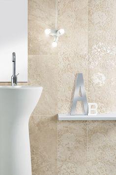 Bad Feinsteinzeug Fliesen Steinoptik Relief Florale Motive Eco Alabaster