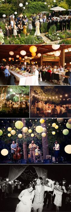 Outdoors, lanterns, good food, celebration, good time....magical. Only change would be round tables vs. the long tables.