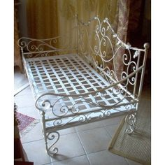 Wrought iron sofa bed. Customize Realizations. 931 Babies Rooms, Garden Pond, Capes, Sofa Bed, Wrought Iron, Baby Room, Beds, Garden Ideas, Shabby