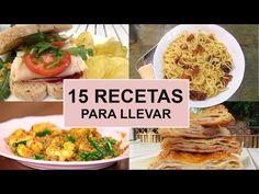 15 Recetas PARA LLEVAR AL TRABAJO | Ideas de comidas para el tupper - YouTube