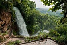 waterfalls in Edessa, Greece Beautiful Park, Beautiful World, Beautiful Places, Amazing Places, Albania, Montenegro, Places Around The World, Around The Worlds, Macedonia Greece
