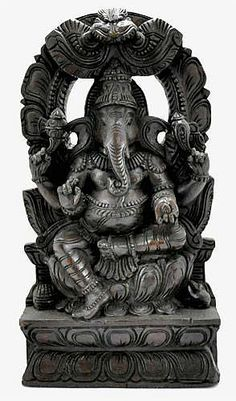Large Wooden Ganesh Statue http://www.bighappybuddha.com/large-wooden-ganesh-statue.html