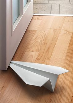 Paper Airplane Doorstop #productdesign